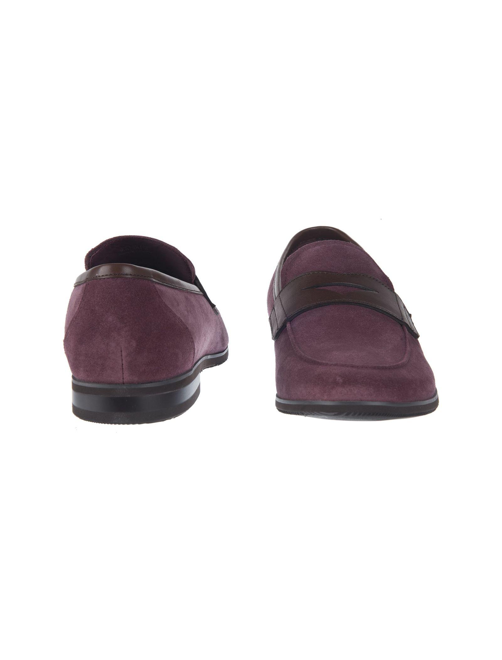 کفش چرم راحتی مردانه - بالدی - زرشکي - 3