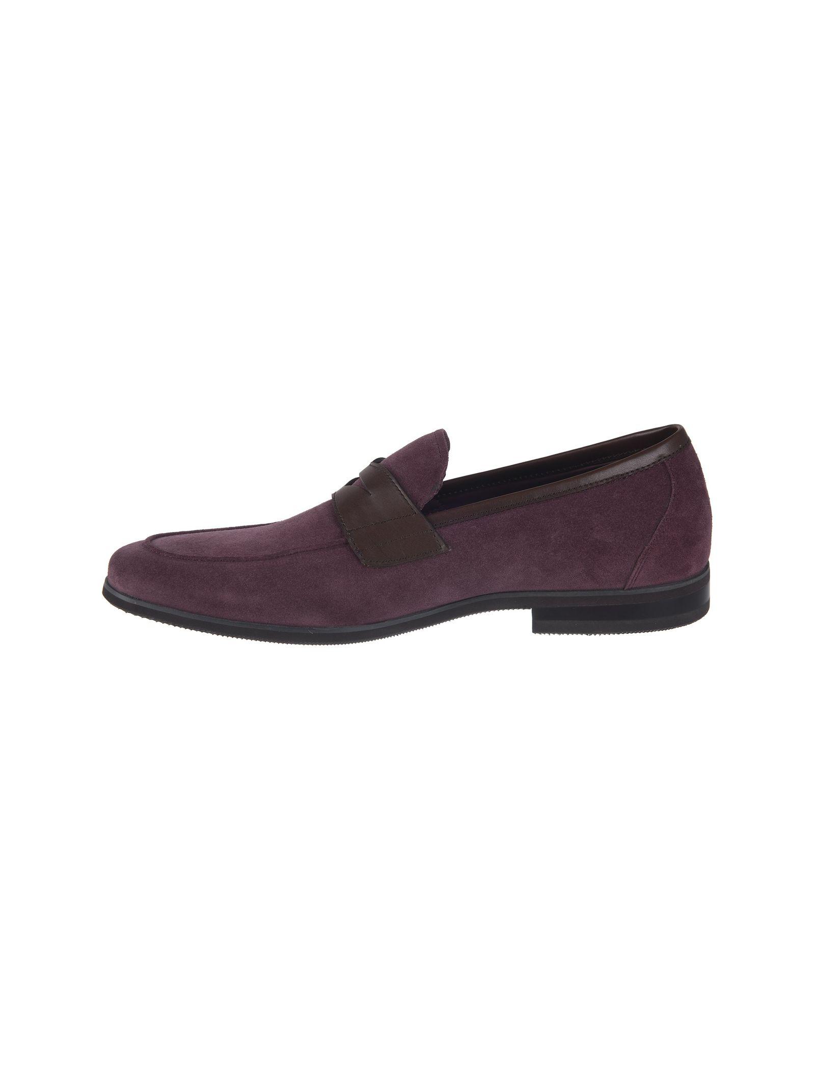 کفش چرم راحتی مردانه - بالدی - زرشکي - 6