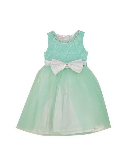 پیراهن مهمانی دخترانه - سبز - 1