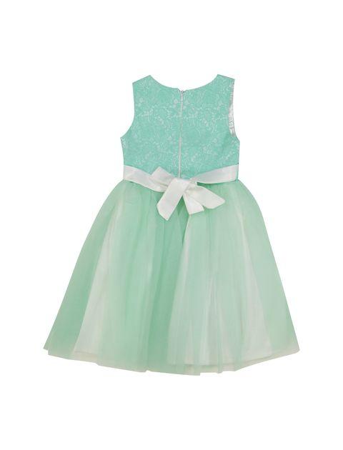 پیراهن مهمانی دخترانه - سبز - 2