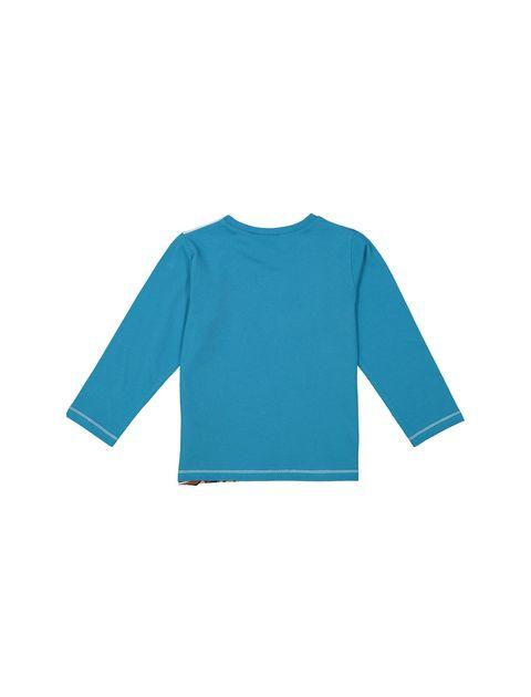 تی شرت و شلوار راحتی نخی دخترانه - دبنهامز - فيروزه اي - 3