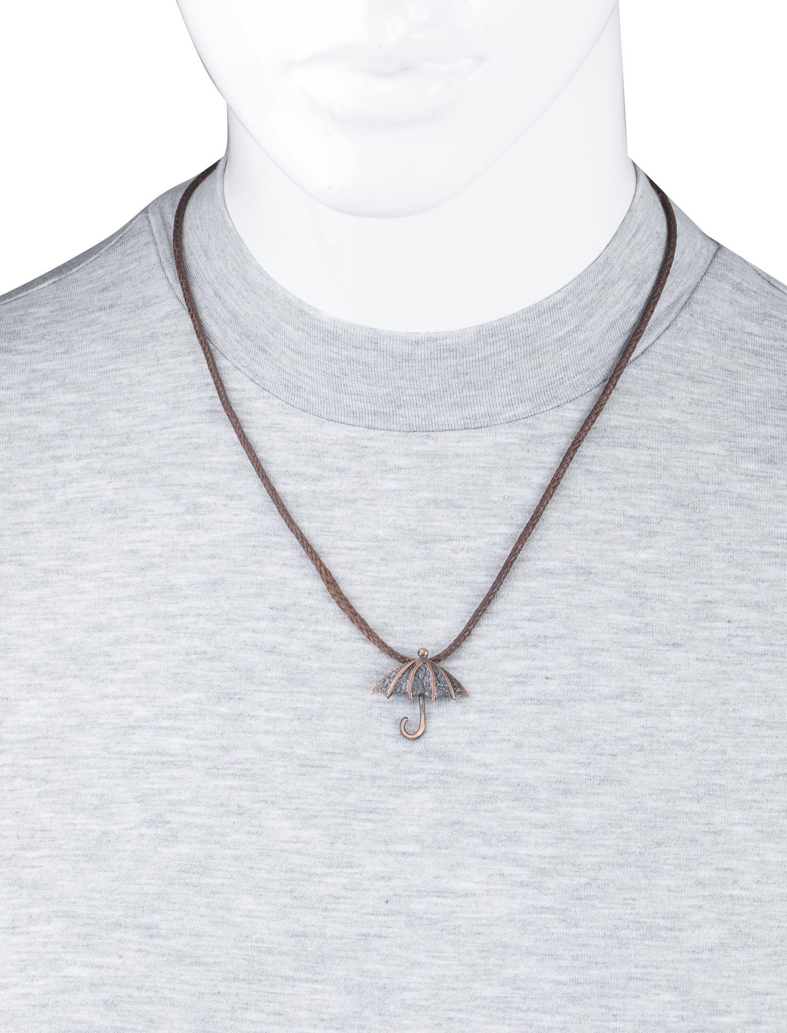 گردنبند آویز زنانه - زرمس تک سایز - قهوهاي - 4