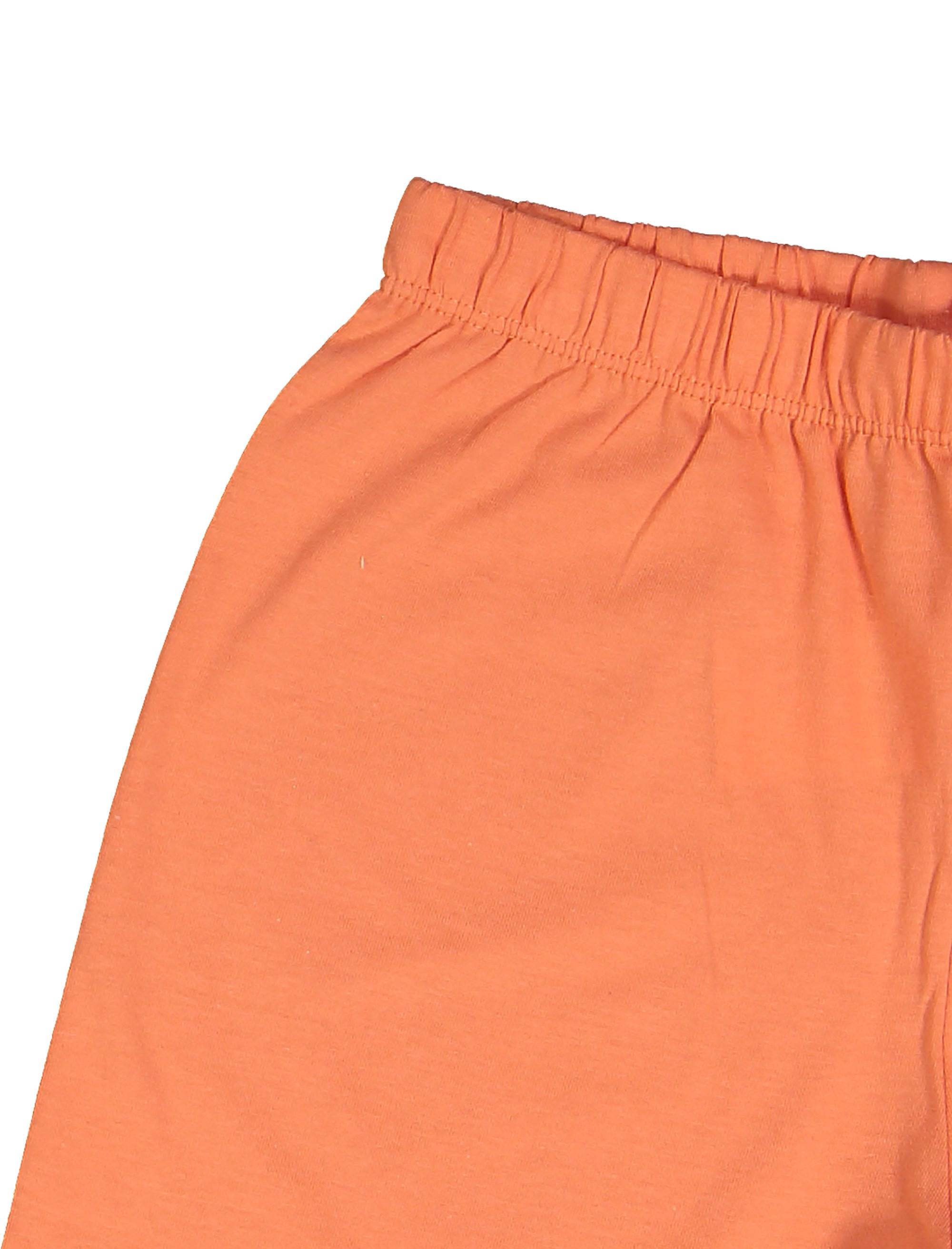 تی شرت و شلوارک نخی پسرانه - سفيد/نارنجي - 4