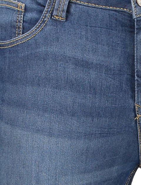 شلوار جین جذب زنانه - آبي - 4