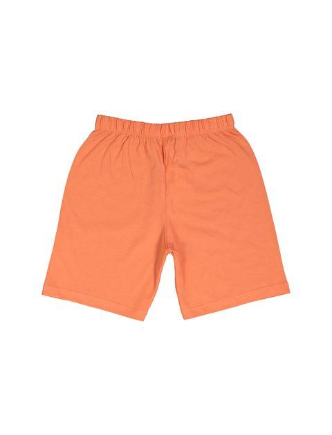 تی شرت و شلوارک نخی پسرانه - سفيد/نارنجي - 6