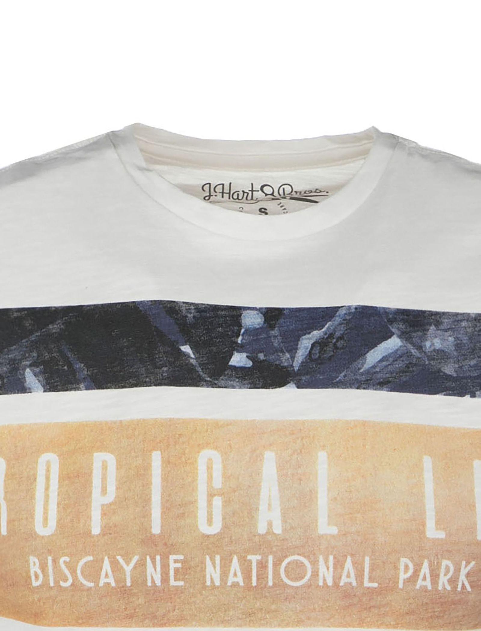تی شرت نخی یقه گرد مردانه - یوپیم - سفيد - 3