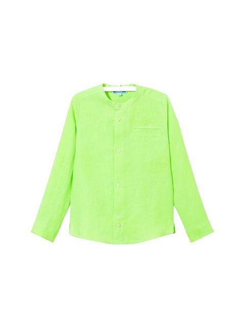 پیراهن کتان آستین بلند پسرانه Eclipsebis - سبز - 1