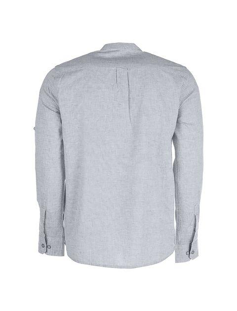 پیراهن نخی آستین بلند مردانه - پاتن جامه - طوسي - 2