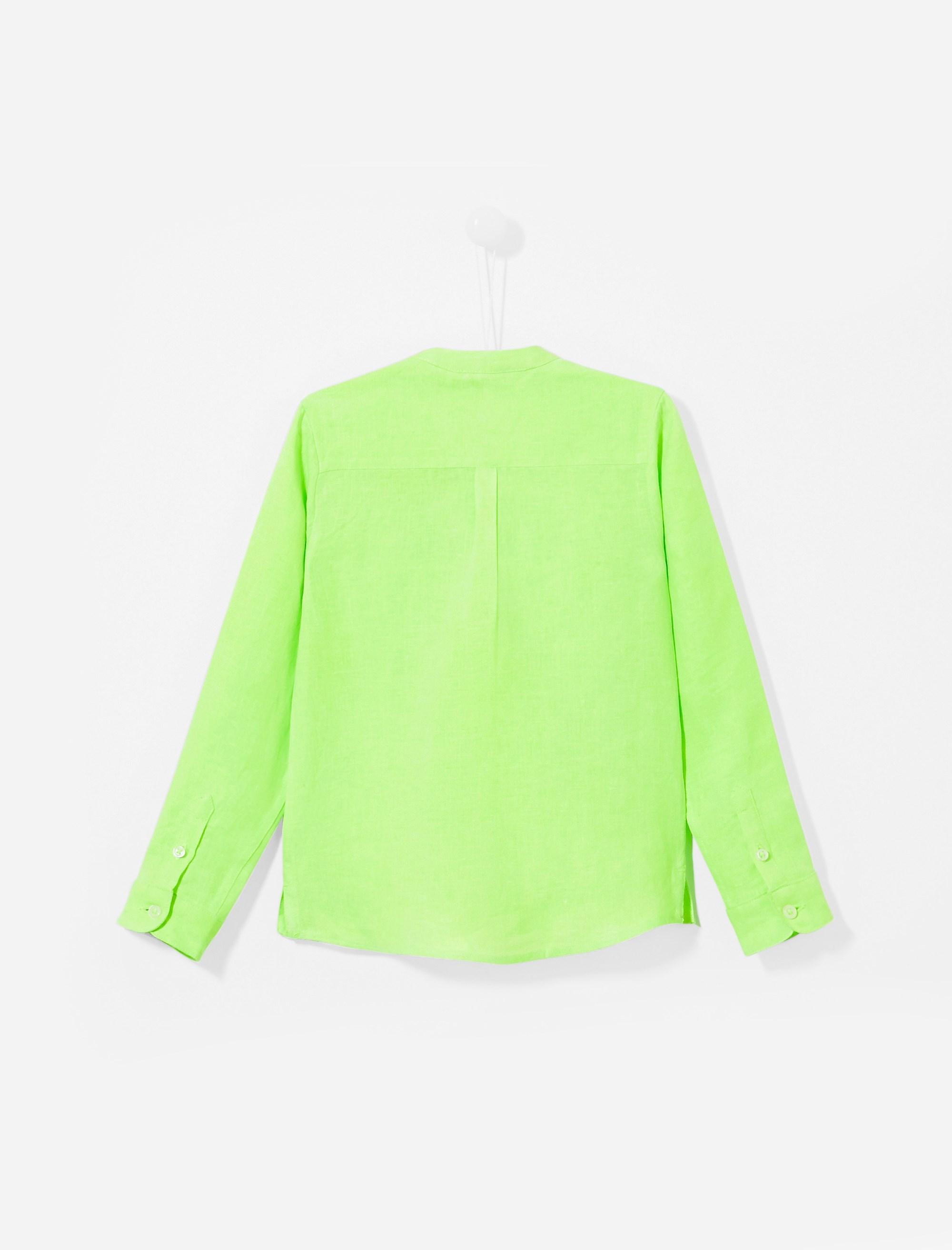 پیراهن کتان آستین بلند پسرانه Eclipsebis - سبز - 2