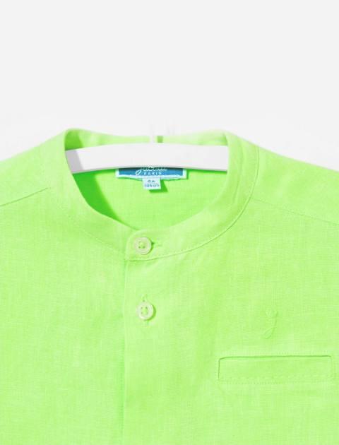 پیراهن کتان آستین بلند پسرانه Eclipsebis - سبز - 3