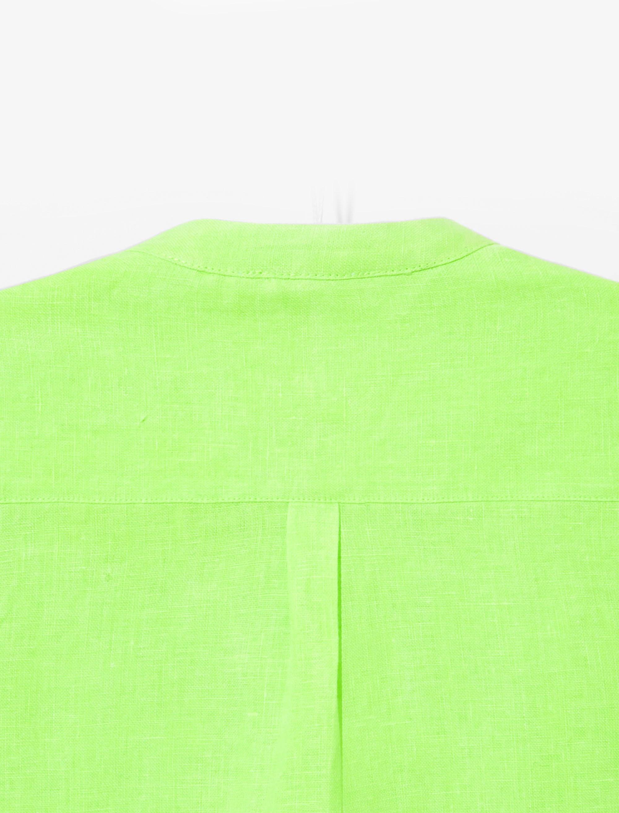 پیراهن کتان آستین بلند پسرانه Eclipsebis - سبز - 4