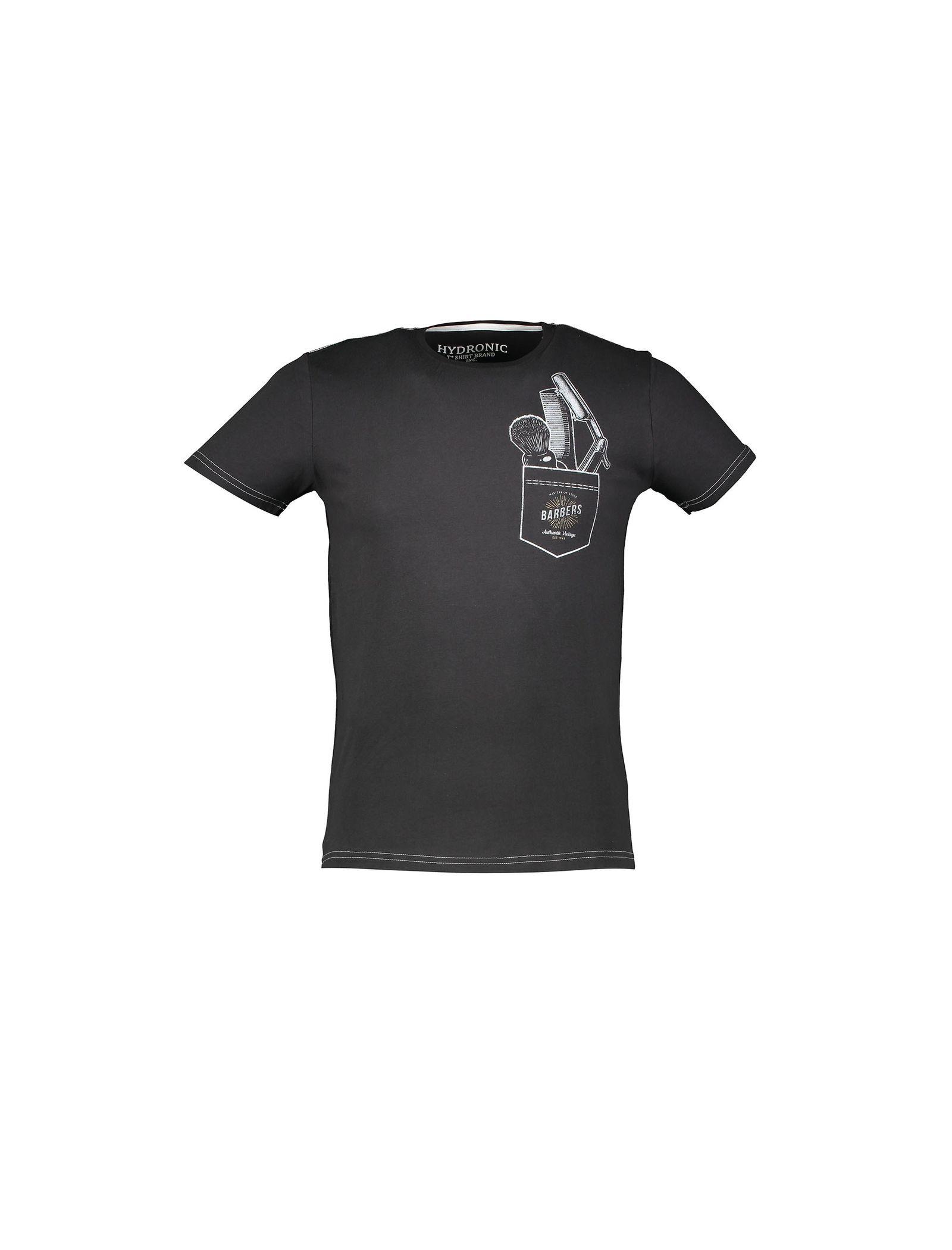 تی شرت نخی یقه گرد زنانه - یوپیم - مشکي - 1
