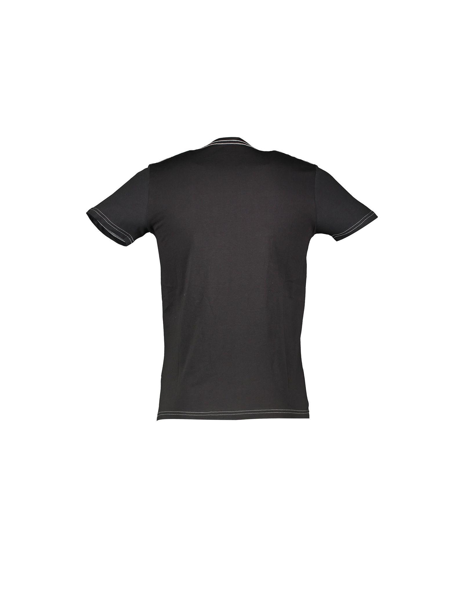 تی شرت نخی یقه گرد زنانه - یوپیم - مشکي - 2