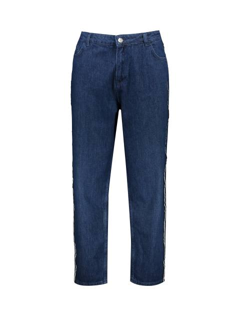 شلوار جین راسته زنانه - آبي - 1