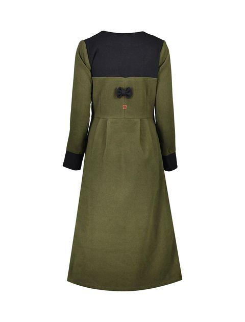 پالتو بلند زنانه - سبز ارتشي/سرمهاي - 2