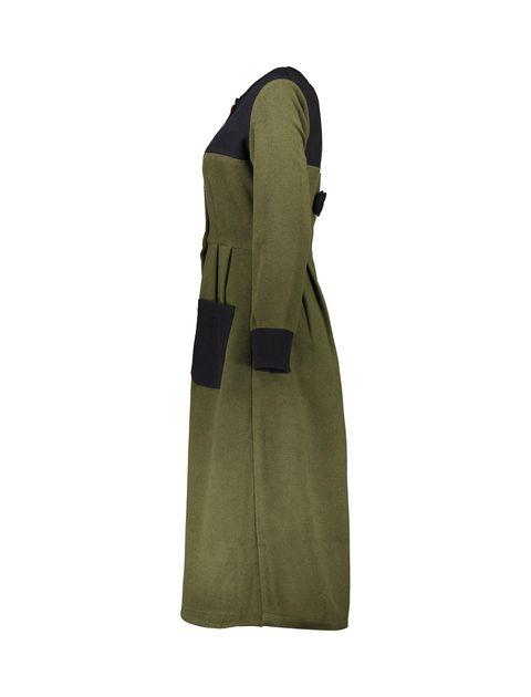پالتو بلند زنانه - سبز ارتشي/سرمهاي - 3