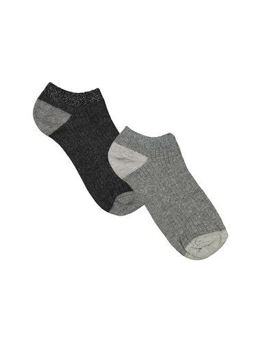 جوراب نخی بدون ساق زنانه بسته 2 عددی