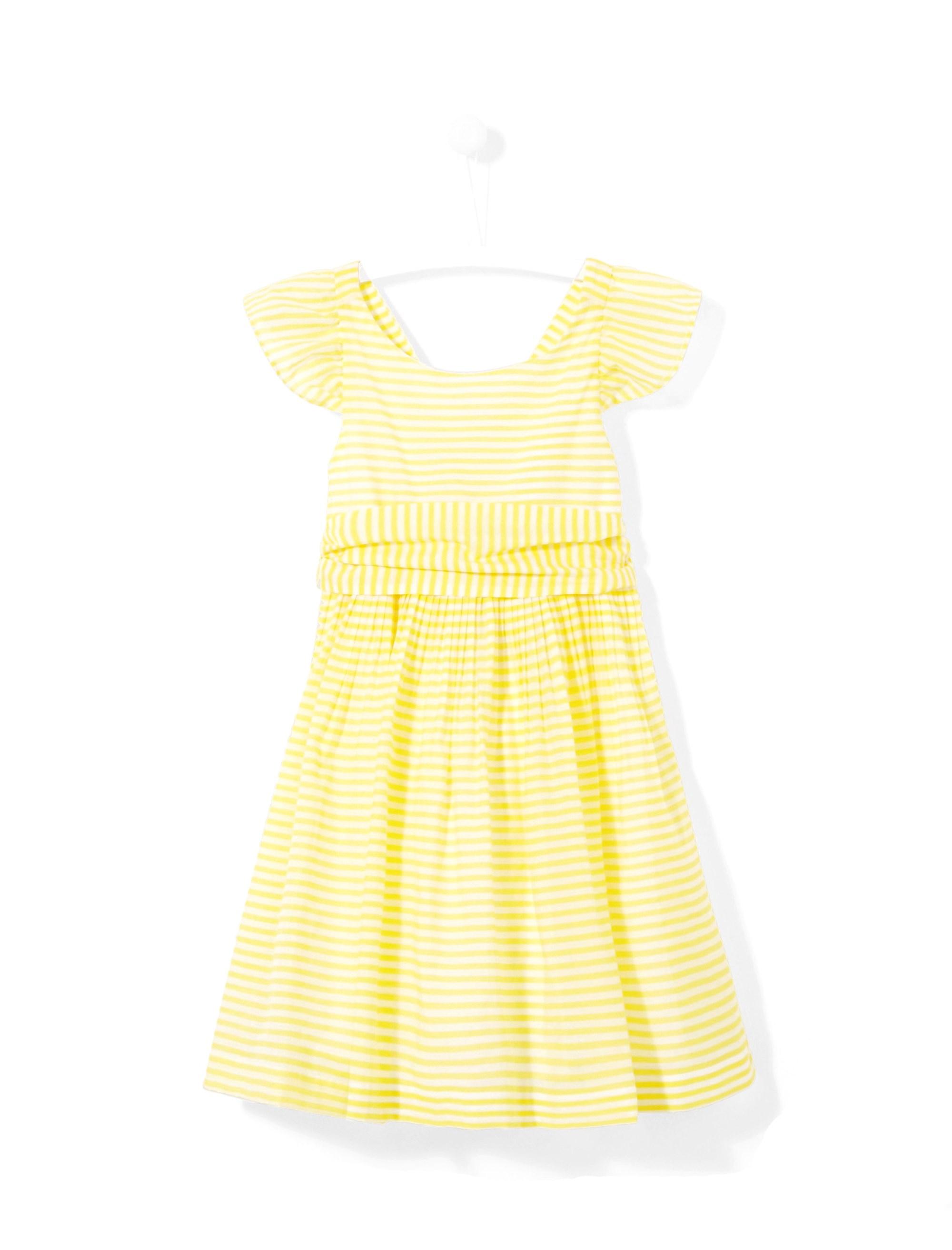 پیراهن روزمره دخترانه Linbis - زرد - 1