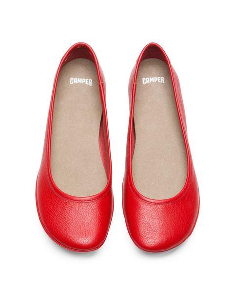 کفش تخت چرم زنانه Right Nina - کمپر - قرمز - 2