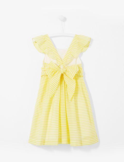 پیراهن روزمره دخترانه Linbis - زرد - 2