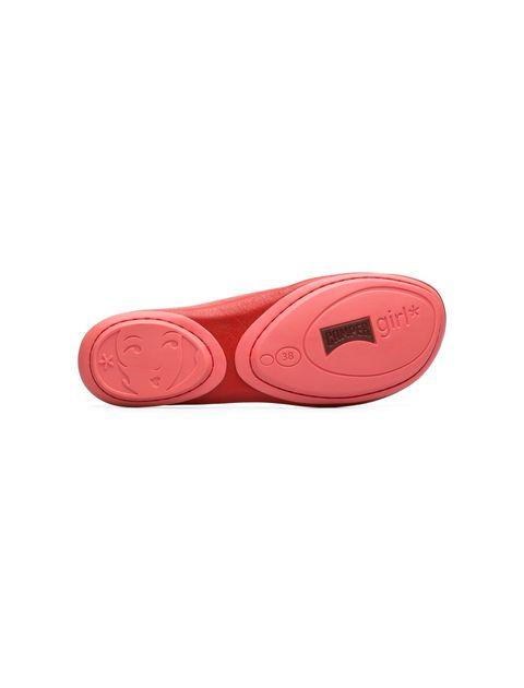کفش تخت چرم زنانه Right Nina - کمپر - قرمز - 3