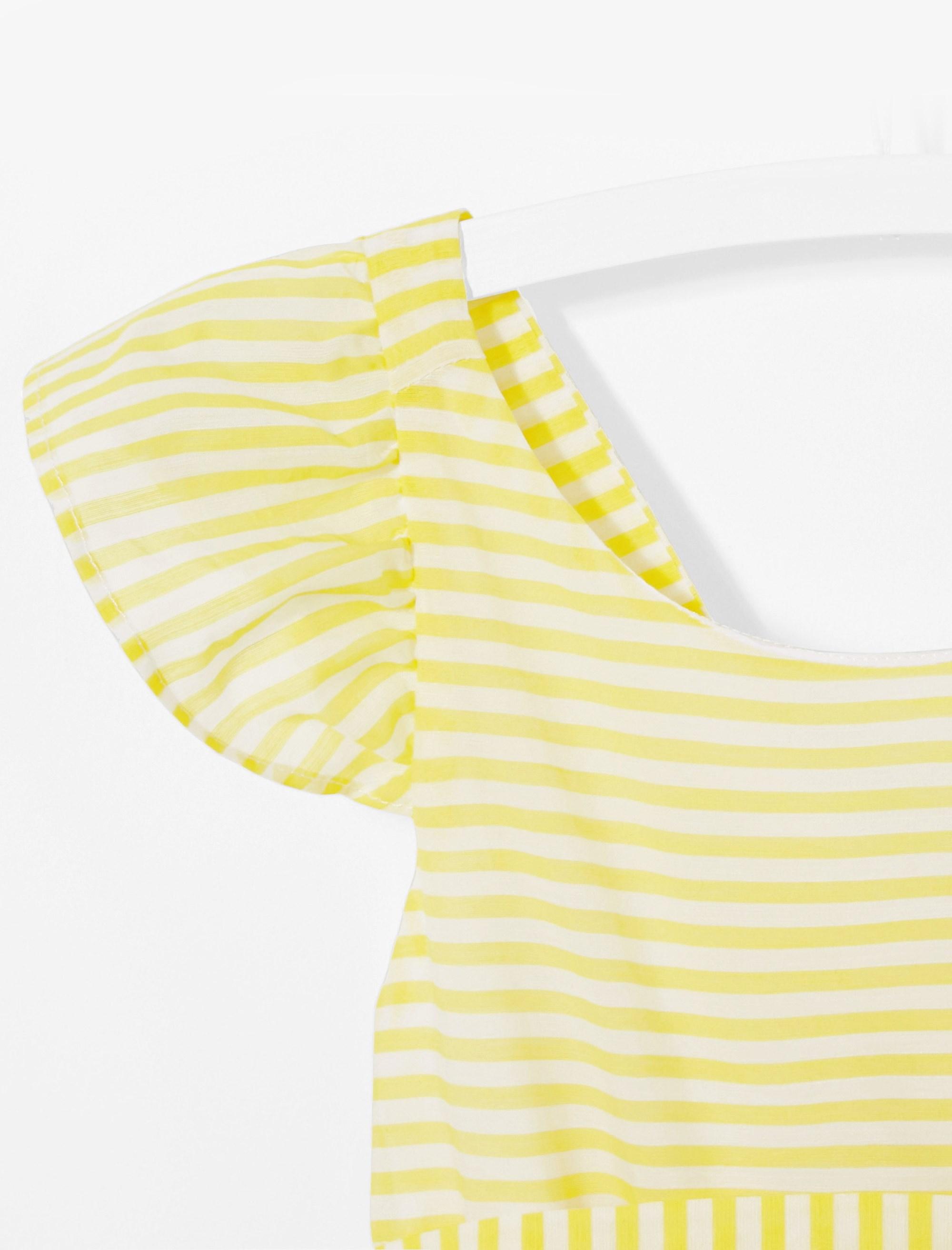 پیراهن روزمره دخترانه Linbis - زرد - 3