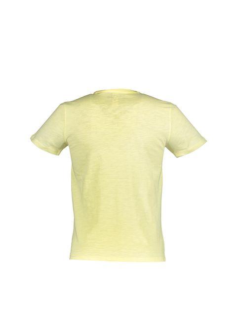 تی شرت یقه گرد مردانه - زرد - 2