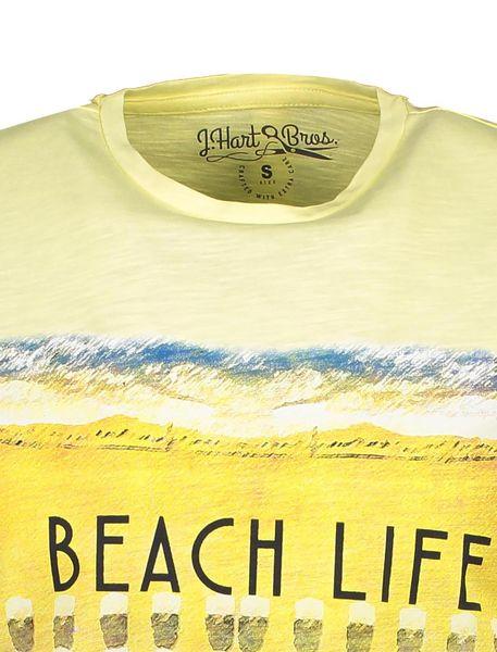 تی شرت یقه گرد مردانه - زرد - 4