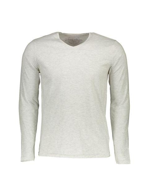 تی شرت نخی یقه هفت مردانه - طوسي - 1