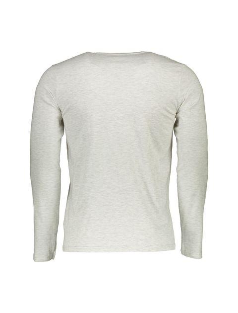 تی شرت نخی یقه هفت مردانه - طوسي - 2