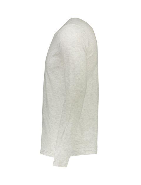 تی شرت نخی یقه هفت مردانه - طوسي - 3