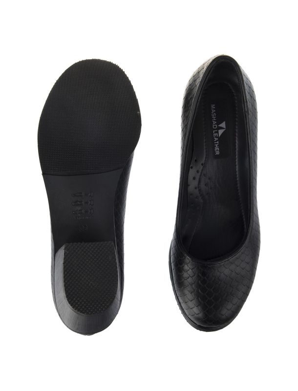کفش چرم پاشنه بلند زنانه - چرم مشهد