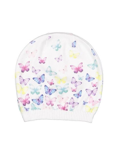 کلاه نخی طرح دار نوزادی دخترانه - سفيد - 1