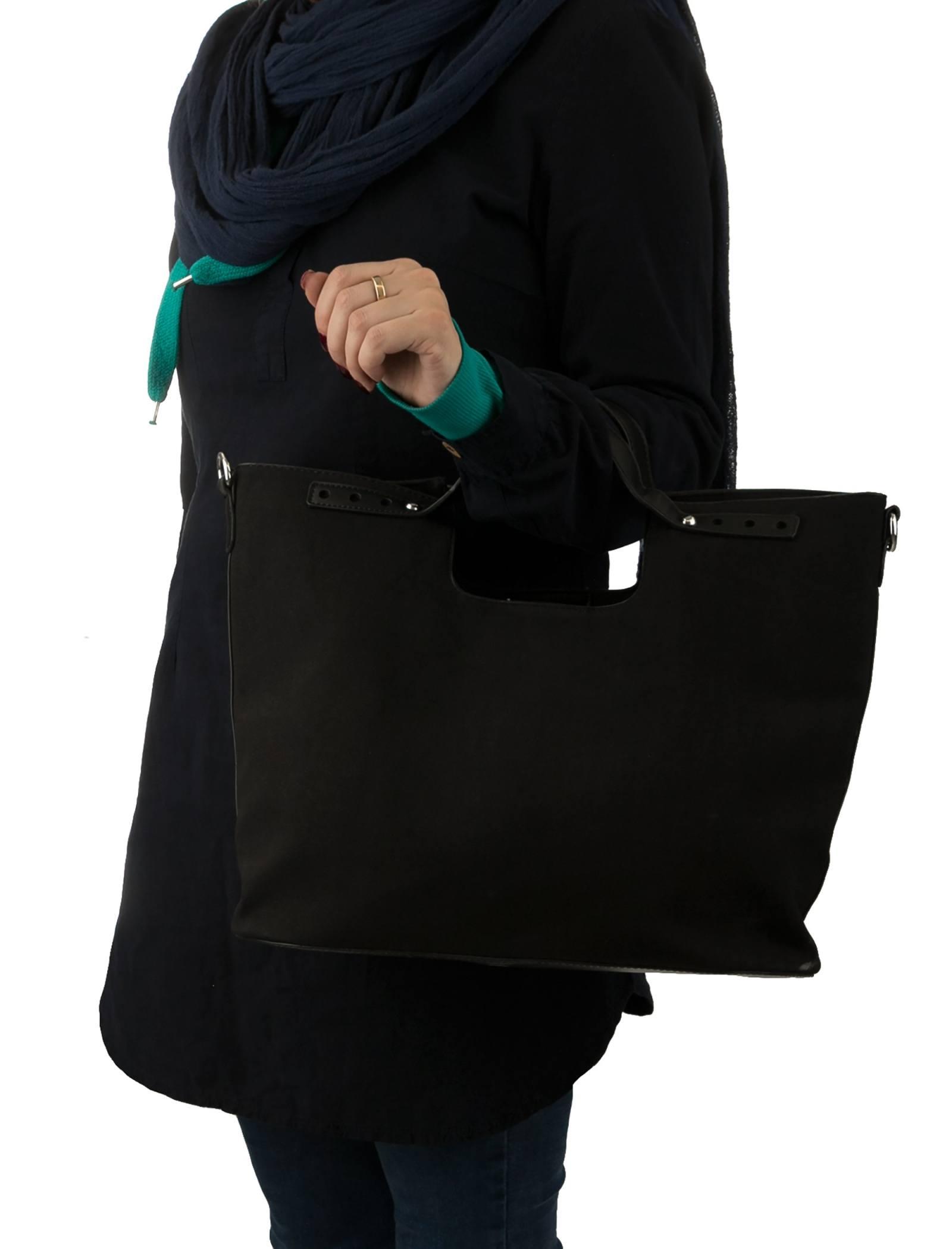 کیف دستی روزمره زنانه - شانتال تک سایز - مشکي  - 2