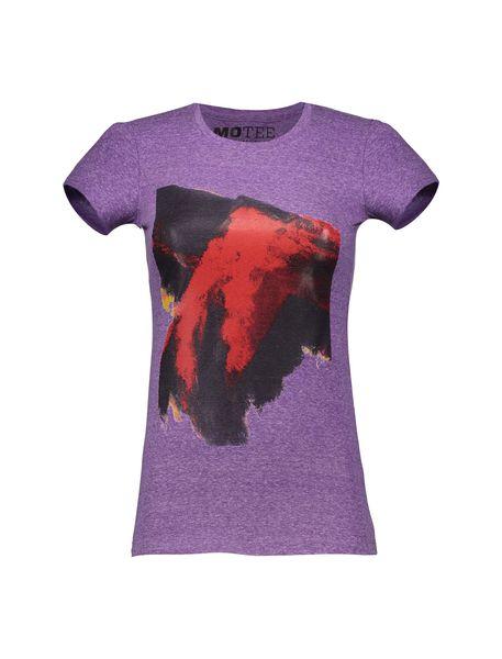 تی شرت یقه گرد زنانه - بنفش - 1