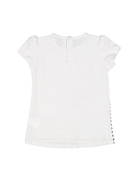 تی شرت نخی نوزادی دخترانه - سفيد مشکي - 2