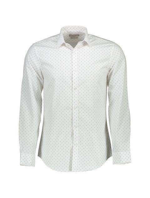 پیراهن آستین بلند مردانه - سفيد - 1