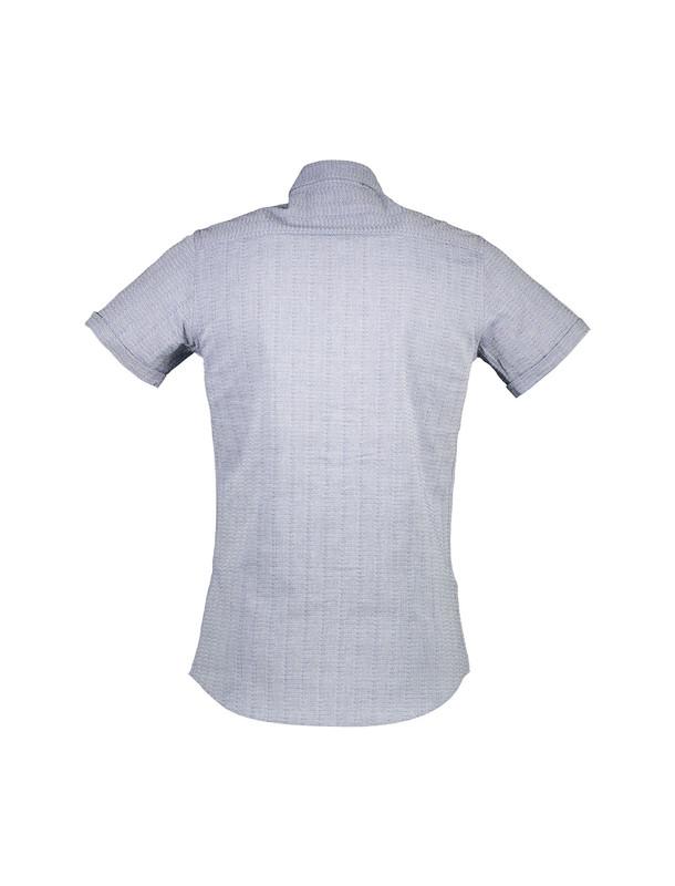 پیراهن نخی آستین کوتاه مردانه - رونی