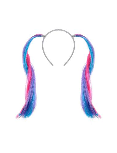 تل سر زنانه Fake Hair Ponies Alice Band