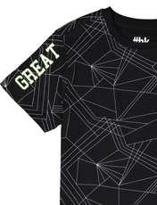 تی شرت ورزشی نخی پسرانه - مشکي - 3