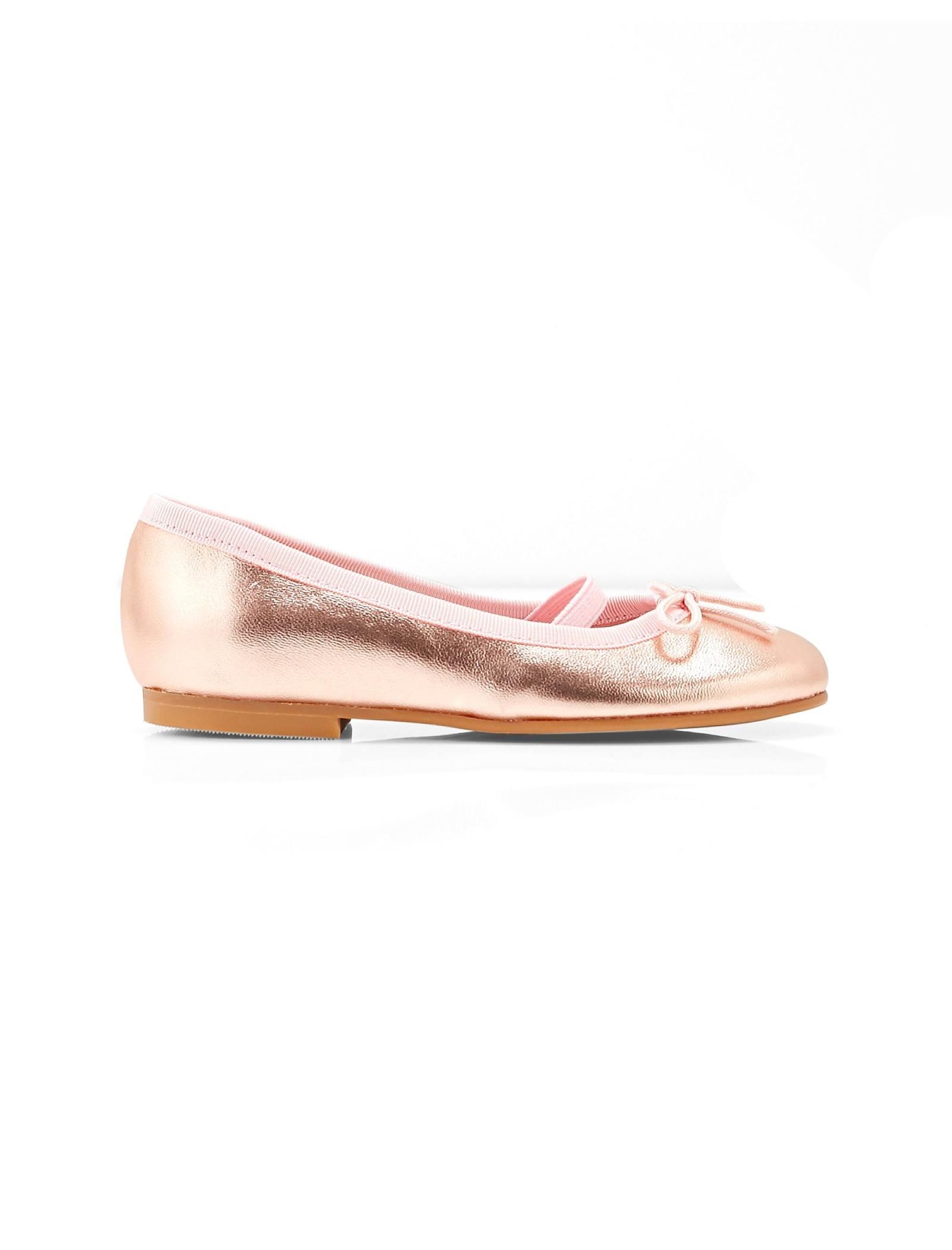 کفش تخت چرم عروسکی دخترانه Dittle Irisee - جاکادی - رزگلد - 1