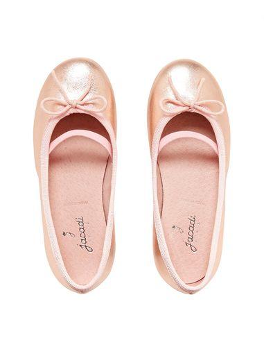 کفش تخت چرم عروسکی دخترانه Dittle Irisee
