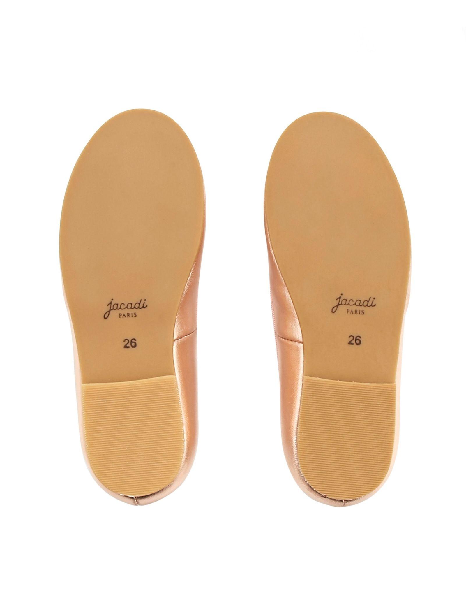 کفش تخت چرم عروسکی دخترانه Dittle Irisee - جاکادی - رزگلد - 3