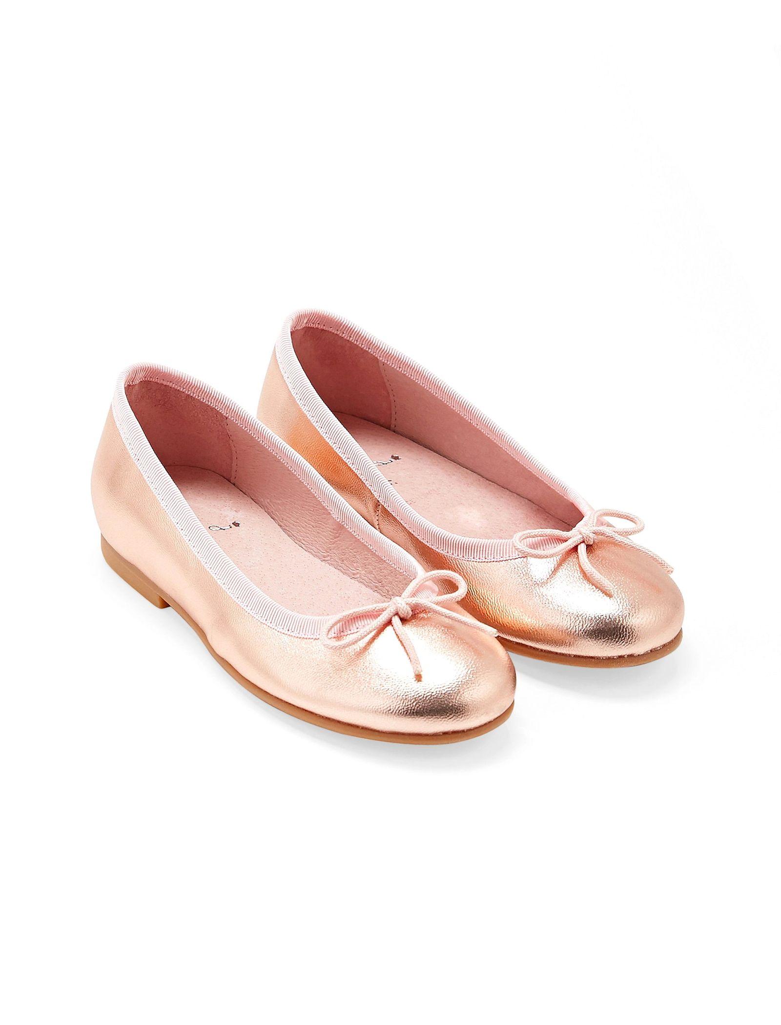 کفش تخت چرم عروسکی دخترانه Dittle Irisee - جاکادی - رزگلد - 4