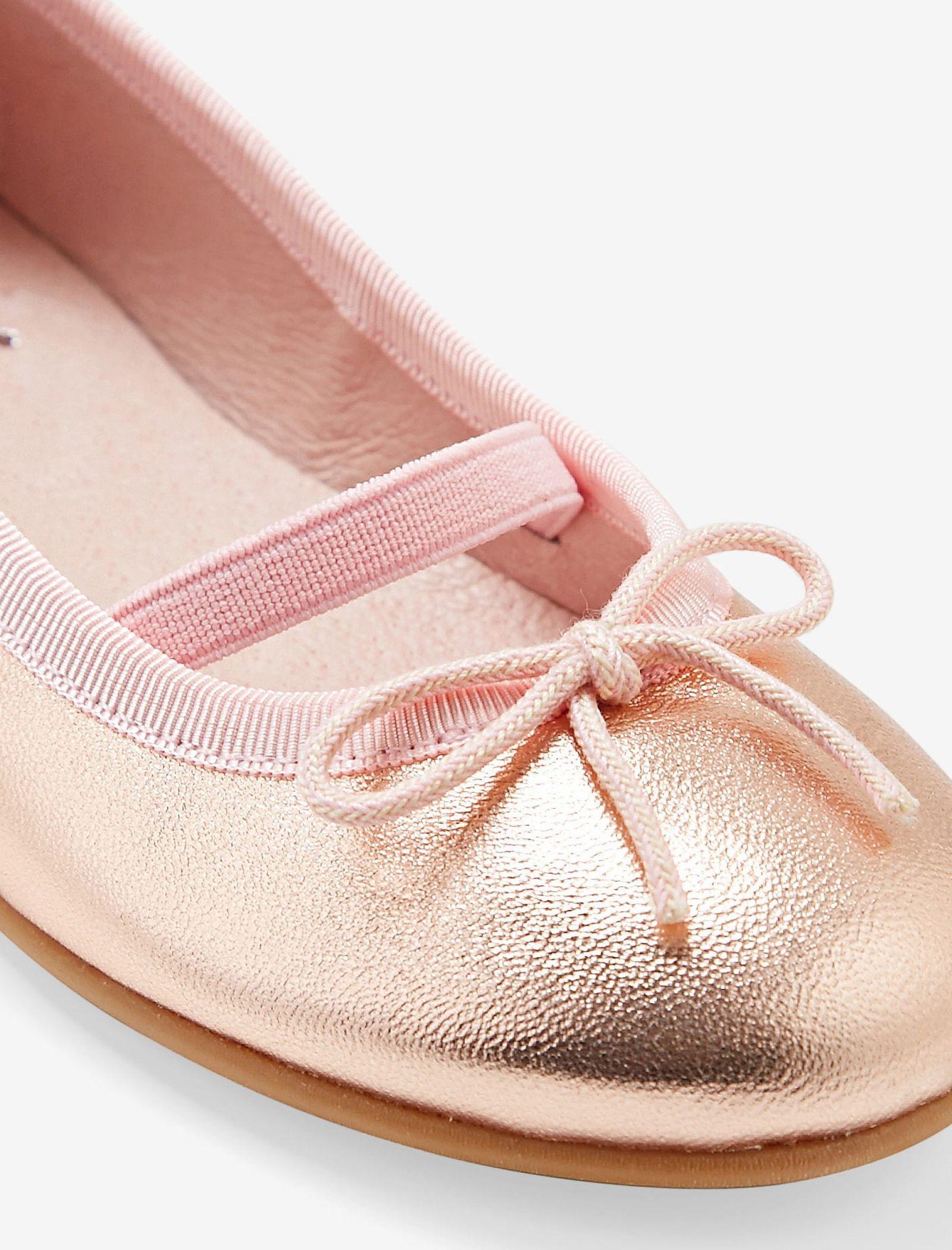 کفش تخت چرم عروسکی دخترانه Dittle Irisee - جاکادی - رزگلد - 5