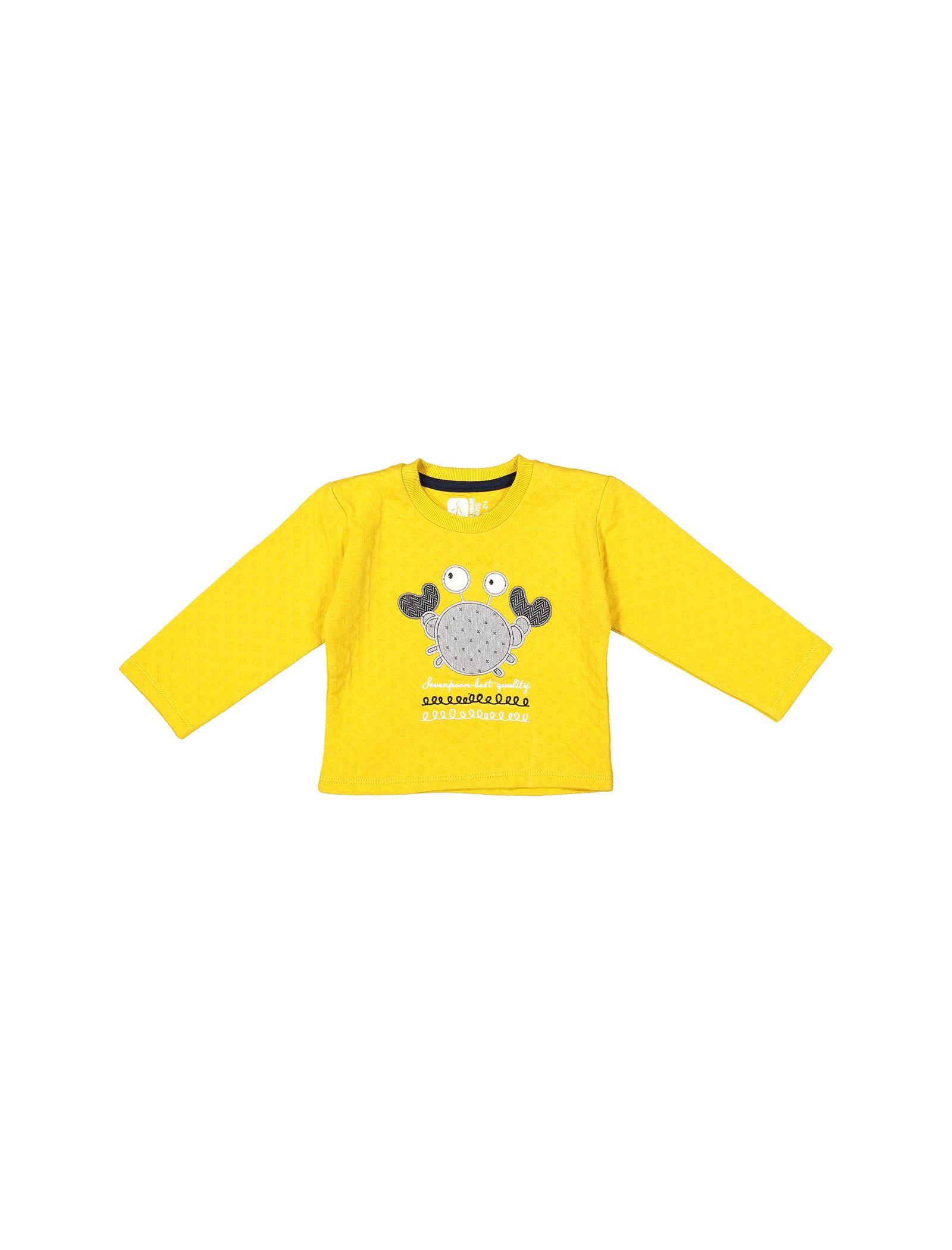 تی شرت و شلوار نخی پسرانه - سون پون - خردلي - 2