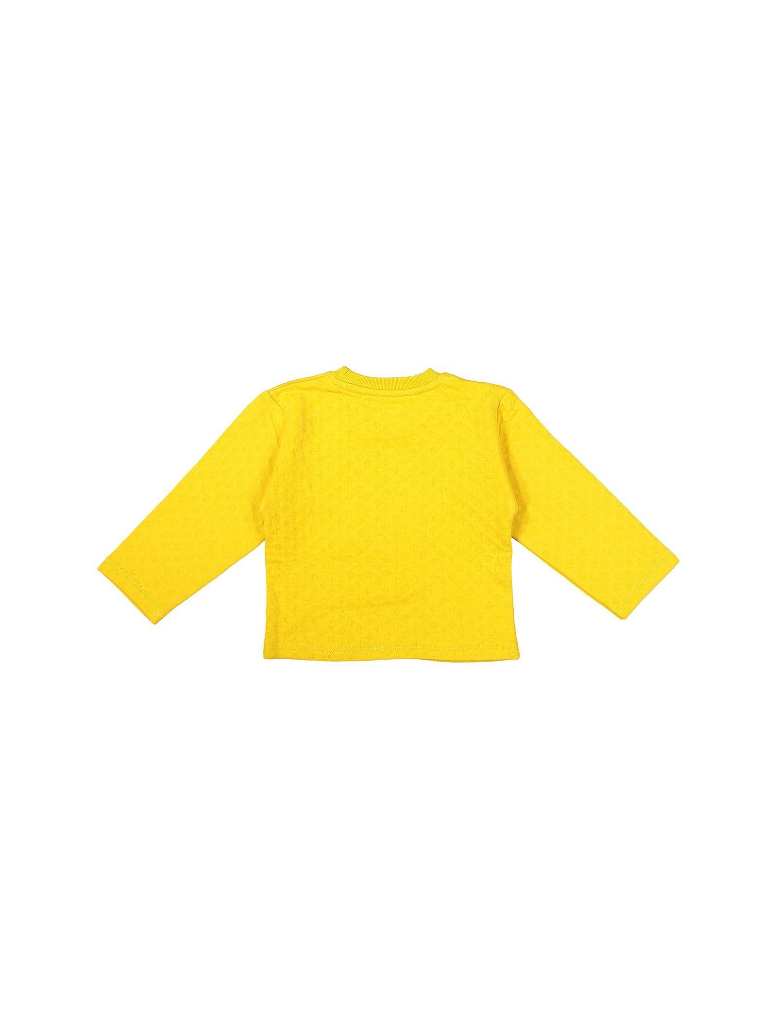 تی شرت و شلوار نخی پسرانه - سون پون - خردلي - 3