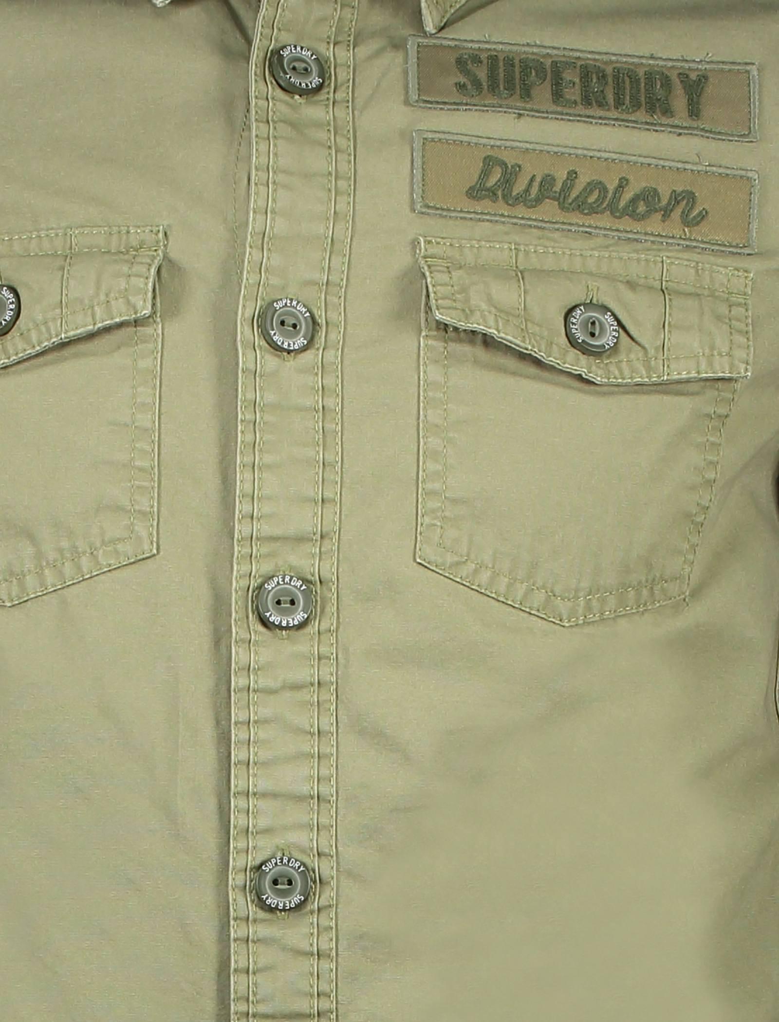 پیراهن نخی آستین بلند مردانه - سوپردرای - سبز - 5