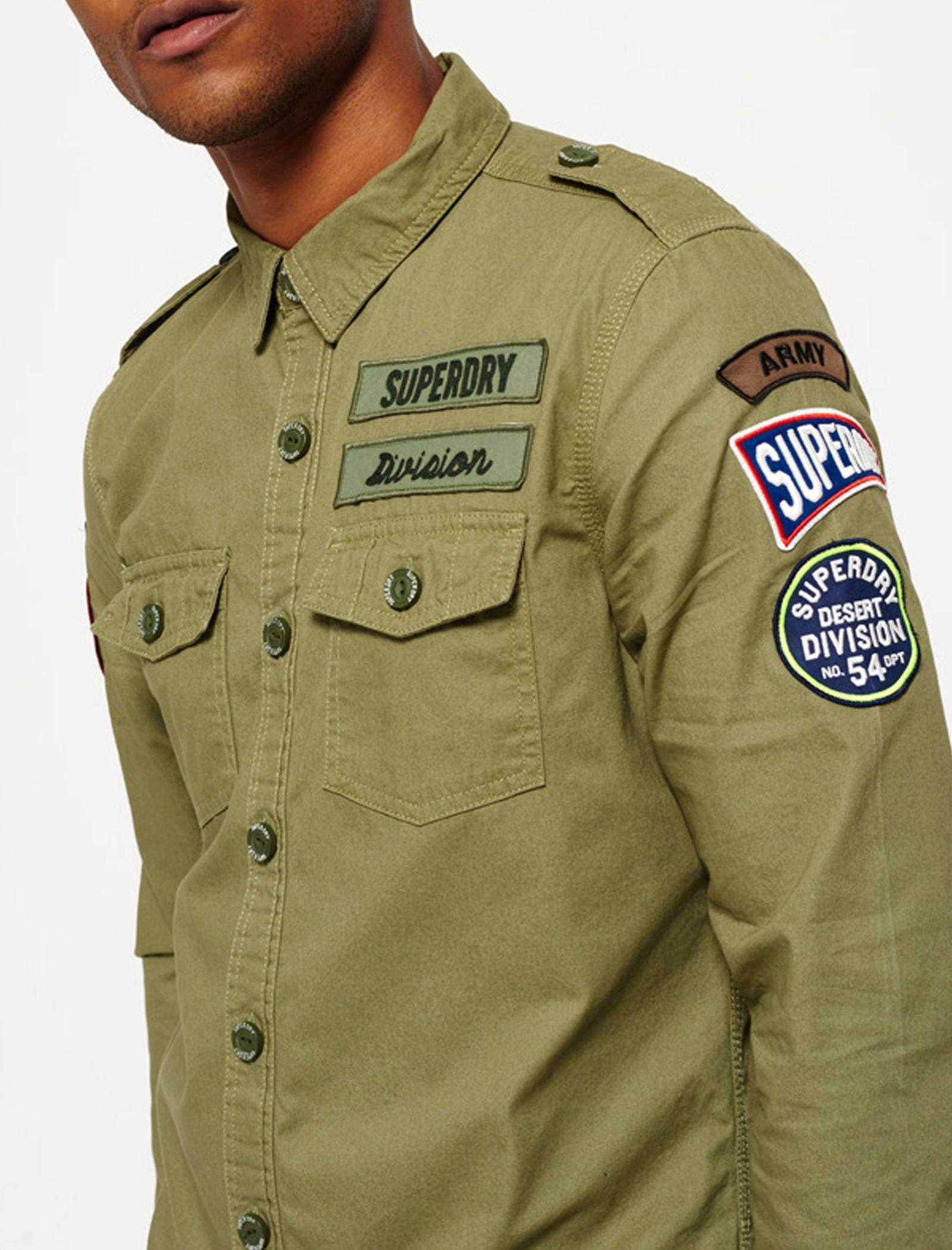پیراهن نخی آستین بلند مردانه - سوپردرای - سبز - 7