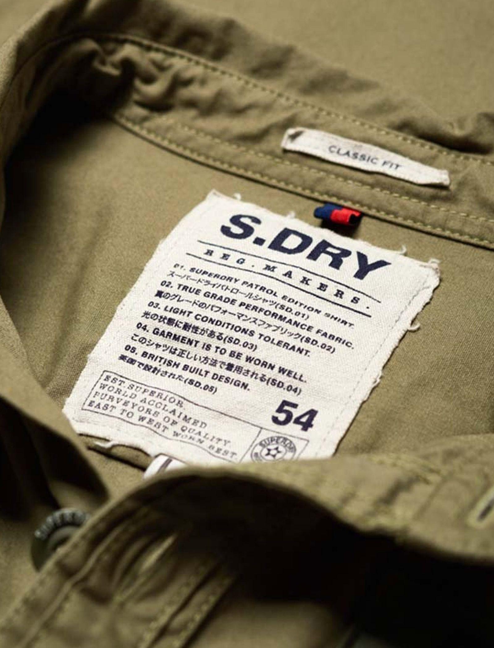 پیراهن نخی آستین بلند مردانه - سوپردرای - سبز - 8